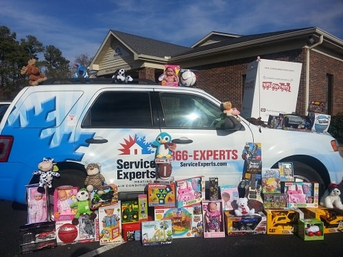 Service Experts Offers Promotions For Toys For Tots